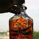 szkło butelka ważka