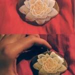 kwiat magnolia naszyjnik biżuteria