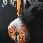 motyl, naszyjnik, kamień, biżuteria