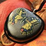 paź królowej, motyl namalowany