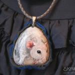 szczur malowany, portret szczura