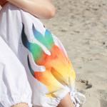 ręcznie malowane spodnie