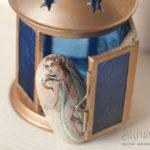 malowana wróżka,malowany elf, ręcznie malowany kamień